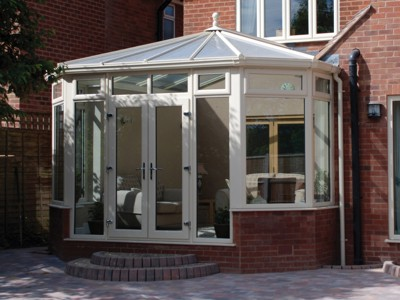 Cream coloured Victorian conservatory